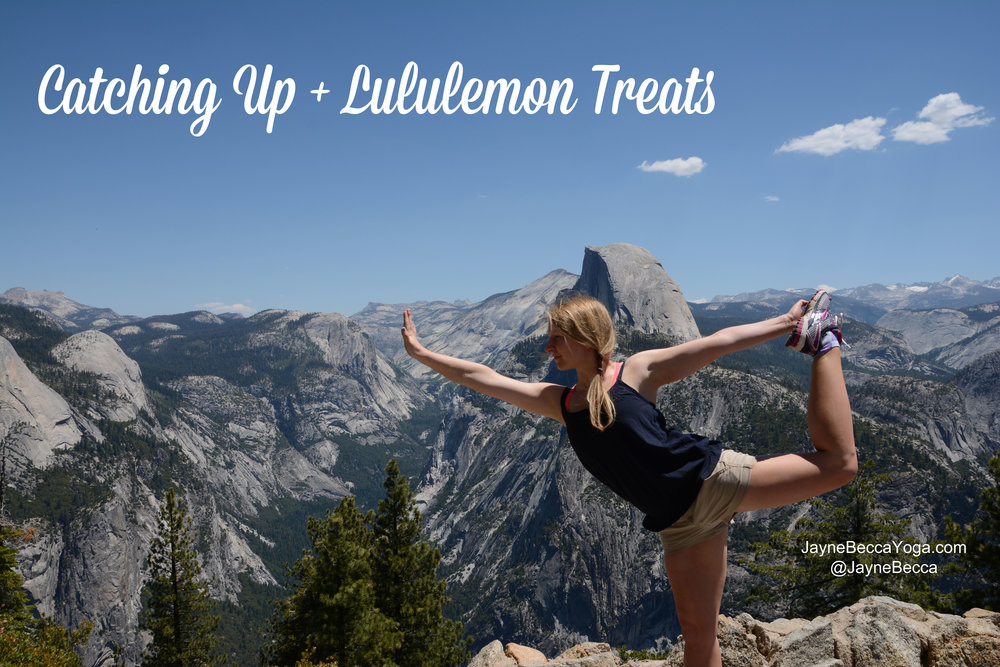 Catching Up + Lululemon Treats - Jayne Becca Yoga