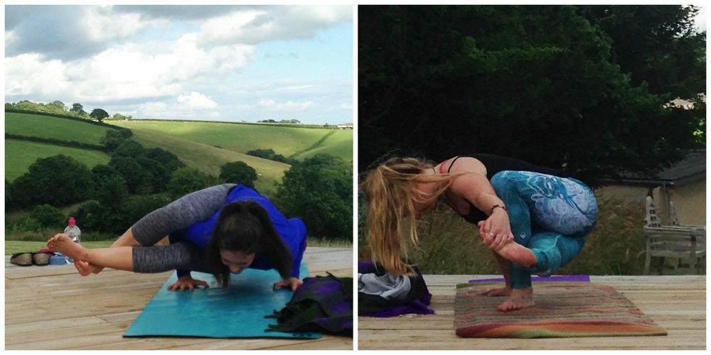Devon Yoga Retreat East Down Arm Balances