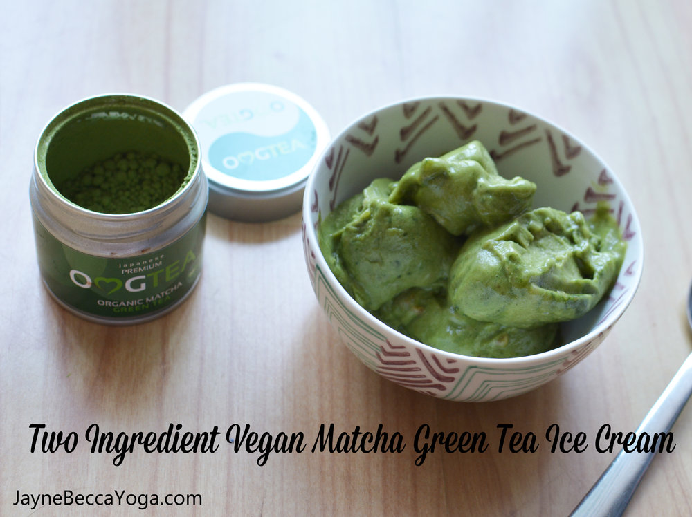 Two Ingredient Vegan Matcha Green Tea Ice Cream Recipe - Jayne Becca Yoga