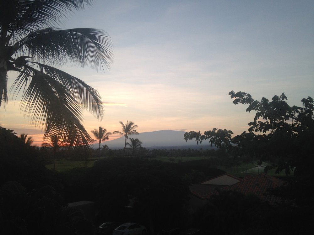 The view from our apartment on the Big Island of Mauna Kea.