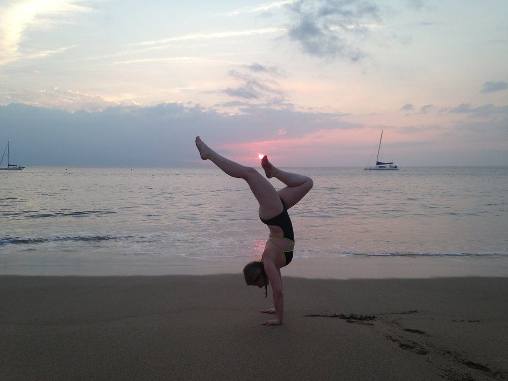 Handstands after the sun went down.