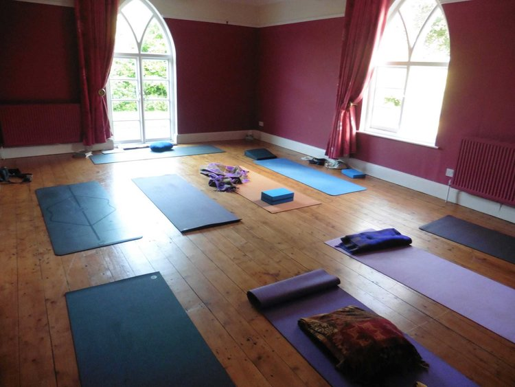 Our yoga studio for the weekend!
