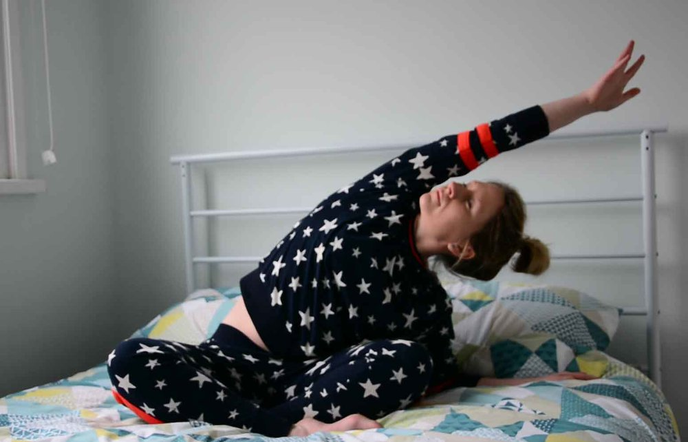 Wearing: Super cosy star pyjamas