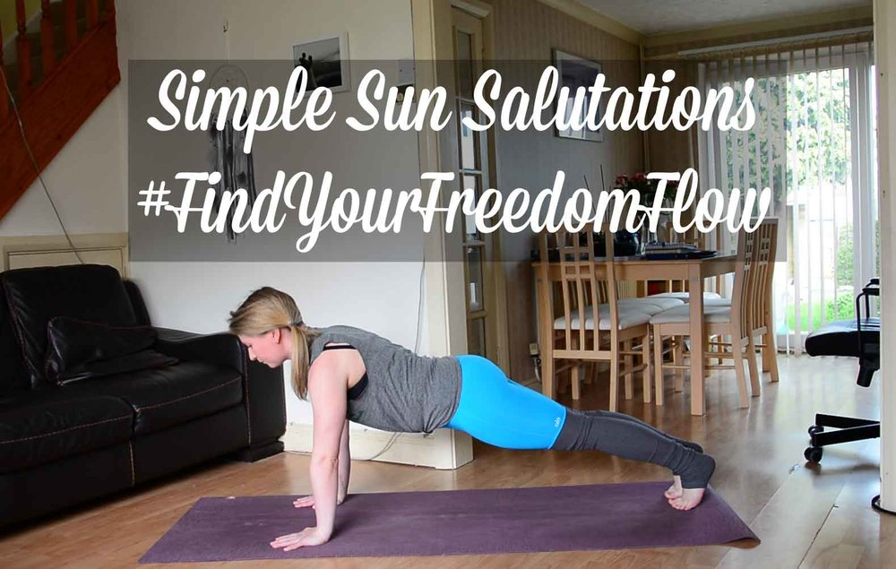 Pin now, practice later. Simple Sun Salutations #FindYourFreedomFlow