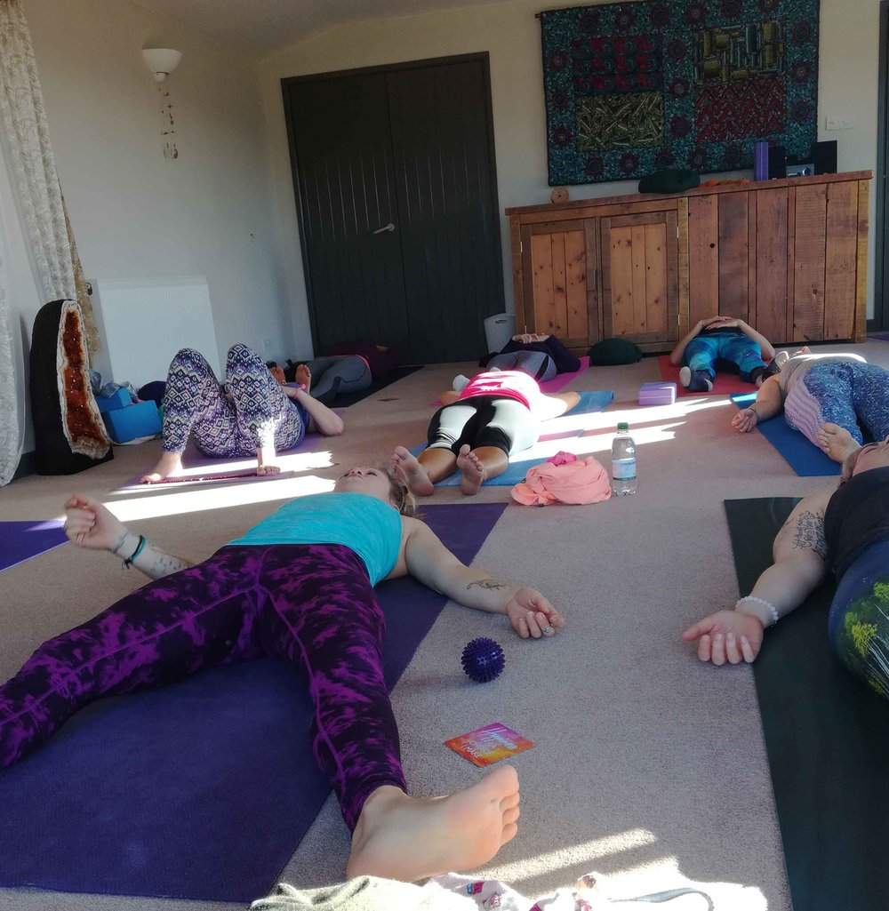 Sleeping yogis.