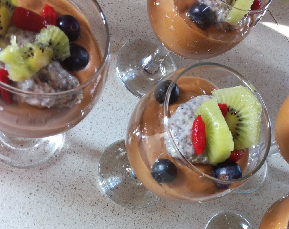 Goji berry pudding