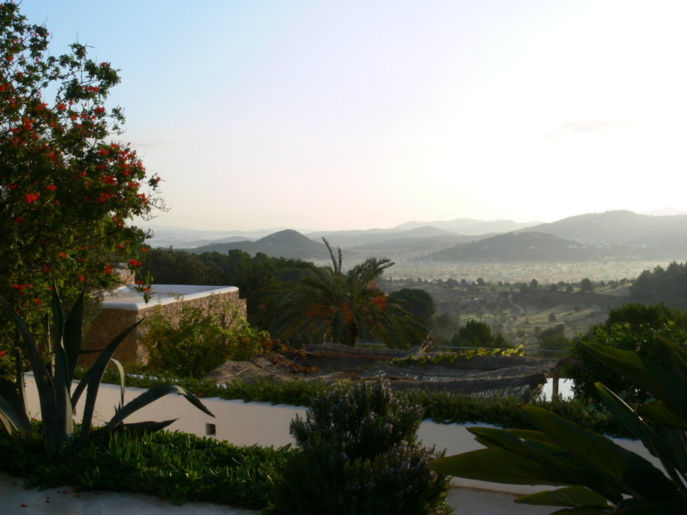 Mountain views from the Ibiza yoga retreat venue