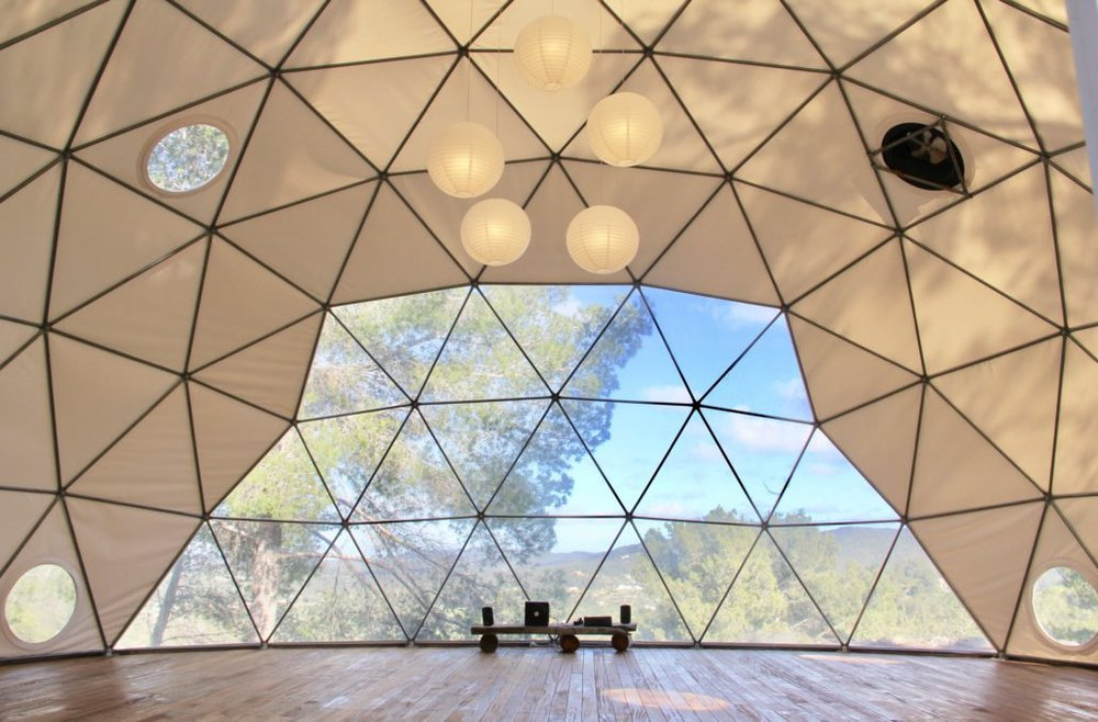 Just imagine practicing yoga here! The yoga dome.