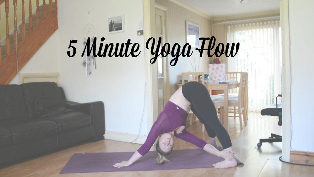 5 minute yoga flow video