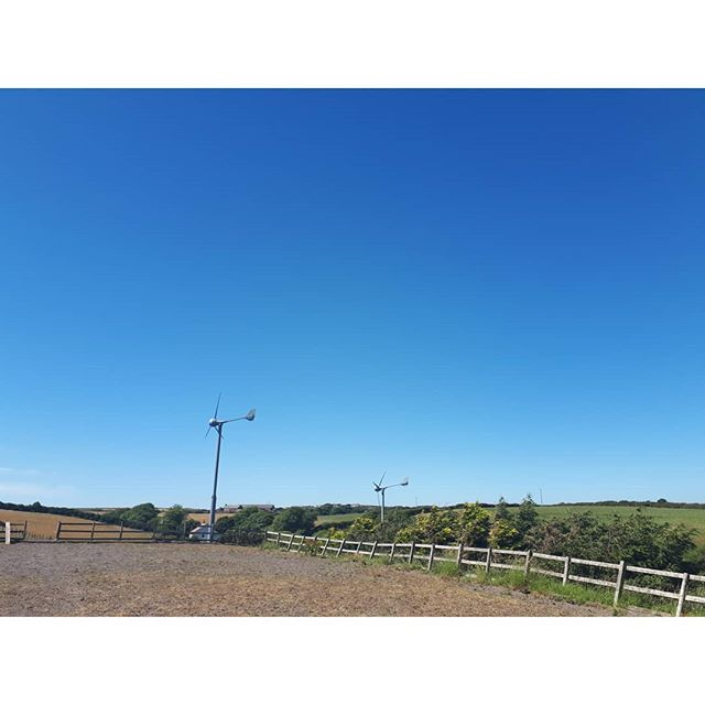 Blue sky, clean air and fields for miles 💙