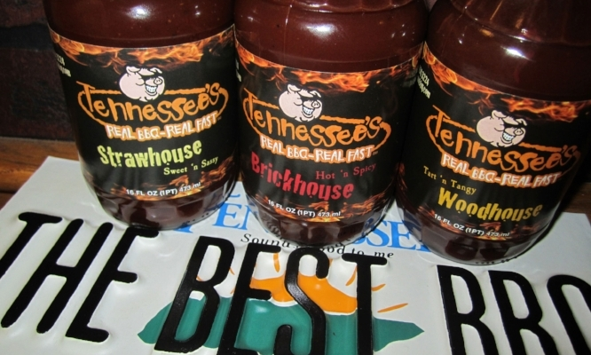 Try one of our housemade BBQ sauces... or buy a bottle to go!
