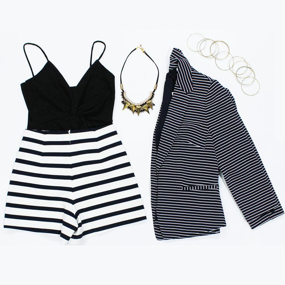 Forcast - Top: $19 / Marcs - Shorts: $89 / Marcs - Blazer: $229