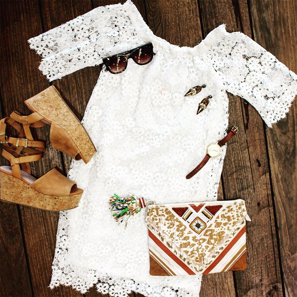 Glue - dress / Mimco - accessories