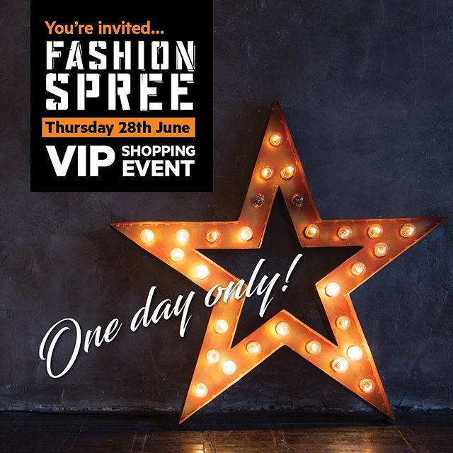 ✨📣 Calling all VIP's! 📣✨ Join us at Fashion Spree on Thursday 28 June from 6-9pm to enjoy fantastic deals, entertainment and prizes. . . - Find a selection of fun food carts throughout the centre to tempt you while you shop. - Keep the kids occupied with a visit to our amazing team of face painters and balloon twisters. - Meet & Greet with Poppy and Branch from the DreamWorks movie Trolls. - Spend $50 for the chance to win prizes with the Spin it to Win it wheel! - And enjoy some incredible one day only deals. . . Register as a Fashion Spree VIP (link in our profile!) for access to the VIP Area for light refreshments and to enjoy our New York Food Cart (exclusive to our VIP guests only). Located in-centre, near Boost Juice. . . Special shopping offers from our biggest brands will be available all day between 10am-9pm (valid ONE day only). . . An event not to be missed! For more information on the event or to join as a FS VIP member, visit www.fashionspree.com.au