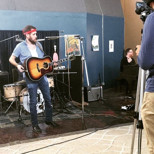 "Scheduling studio time the day after playing music and drinking with our friends @railwaygamblers and @coyoteriot? Bad idea. Recording a live music video for ""Born to Run""? Great idea."