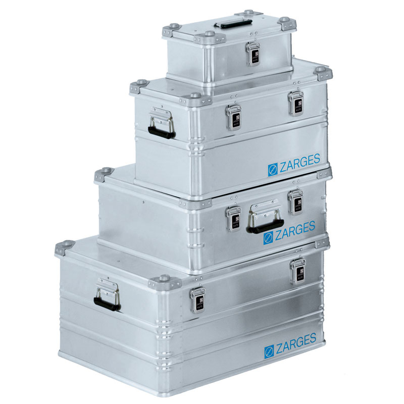 Zarges aluminum boxes provide a sturdy weatherproof storage solution for a myriad of applications. Image: Zarges