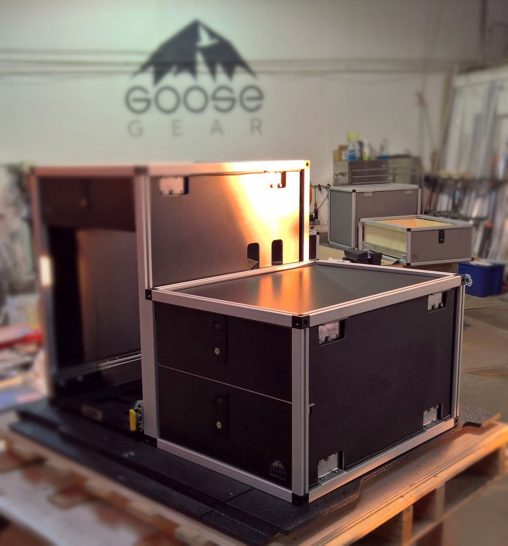 Companies such as Goose Gear can create custom drawers systems tailored specifically to the needs of the end user. This customization provides them with a distinct advantage over the one-size-fits-all offerings of many companies. Image: Goose Gear