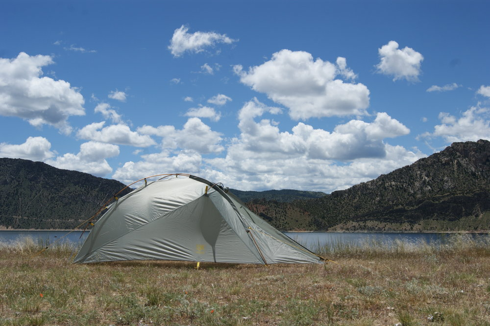 The SJK NightFall 2 tent looking right at home along Flaming Gorge, UT/WY.