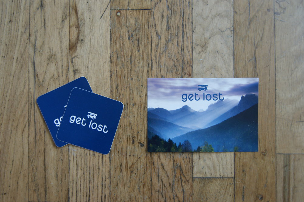 Our Overlander came with a postcard with information about each product and a pair of decals.