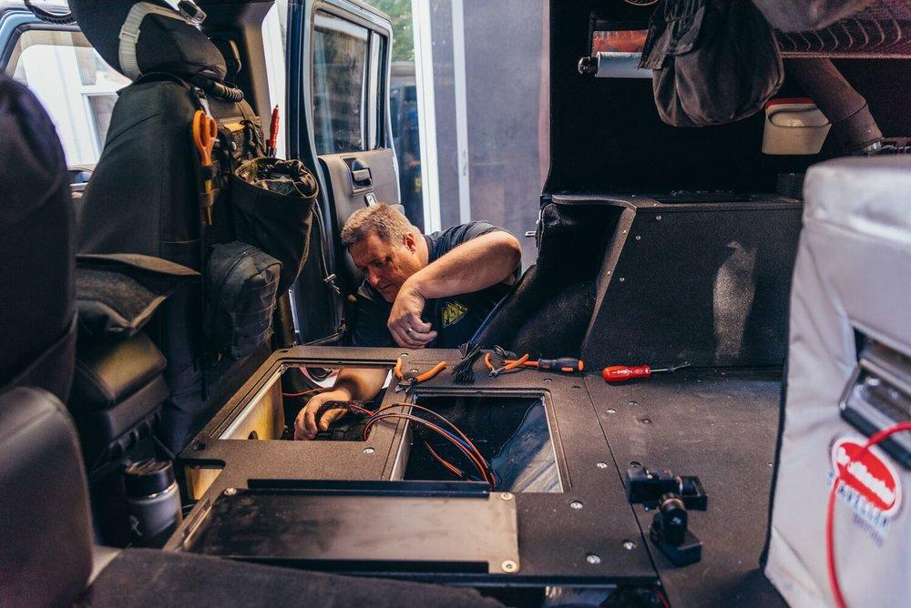 Mitch (@AdventureWired) doing work!