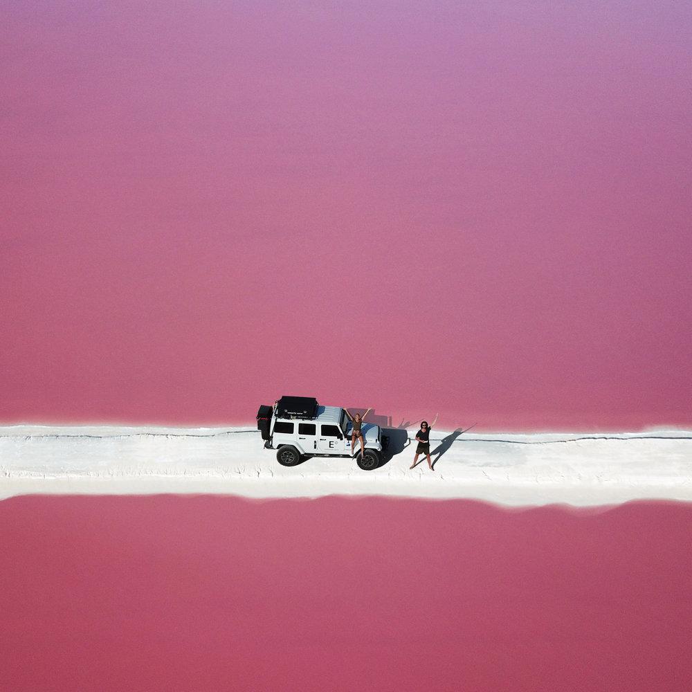 Pink Lake With Car 2.jpg