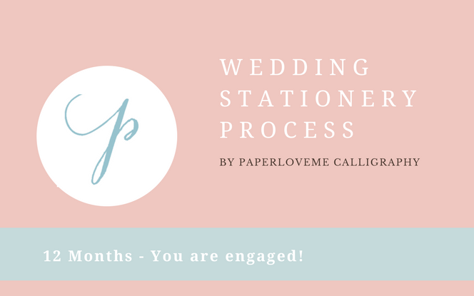 Having realistic expectations of when to start your wedding stationery process is very important. I have created an easy timeline to keep you on top of what you need.