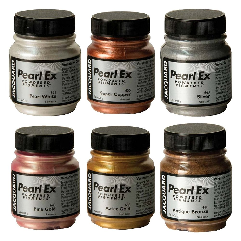 Pearl Ex Pigment Metallic 6 Color Set