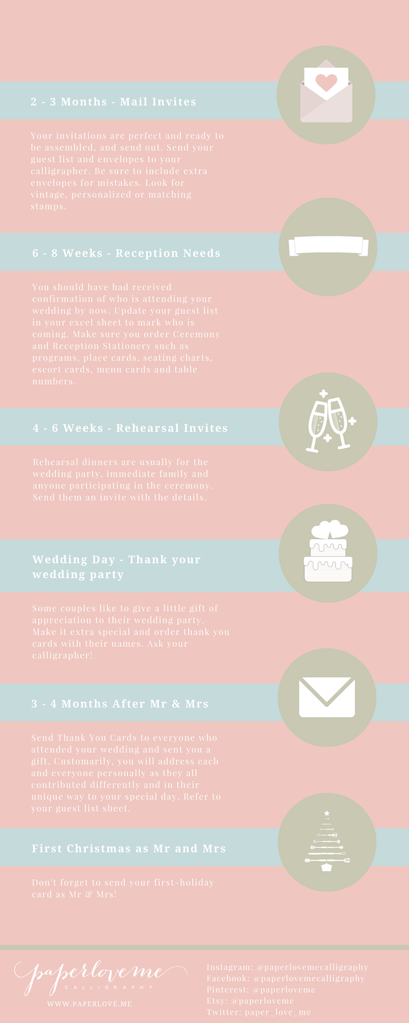 Perfect wedding stationery timeline