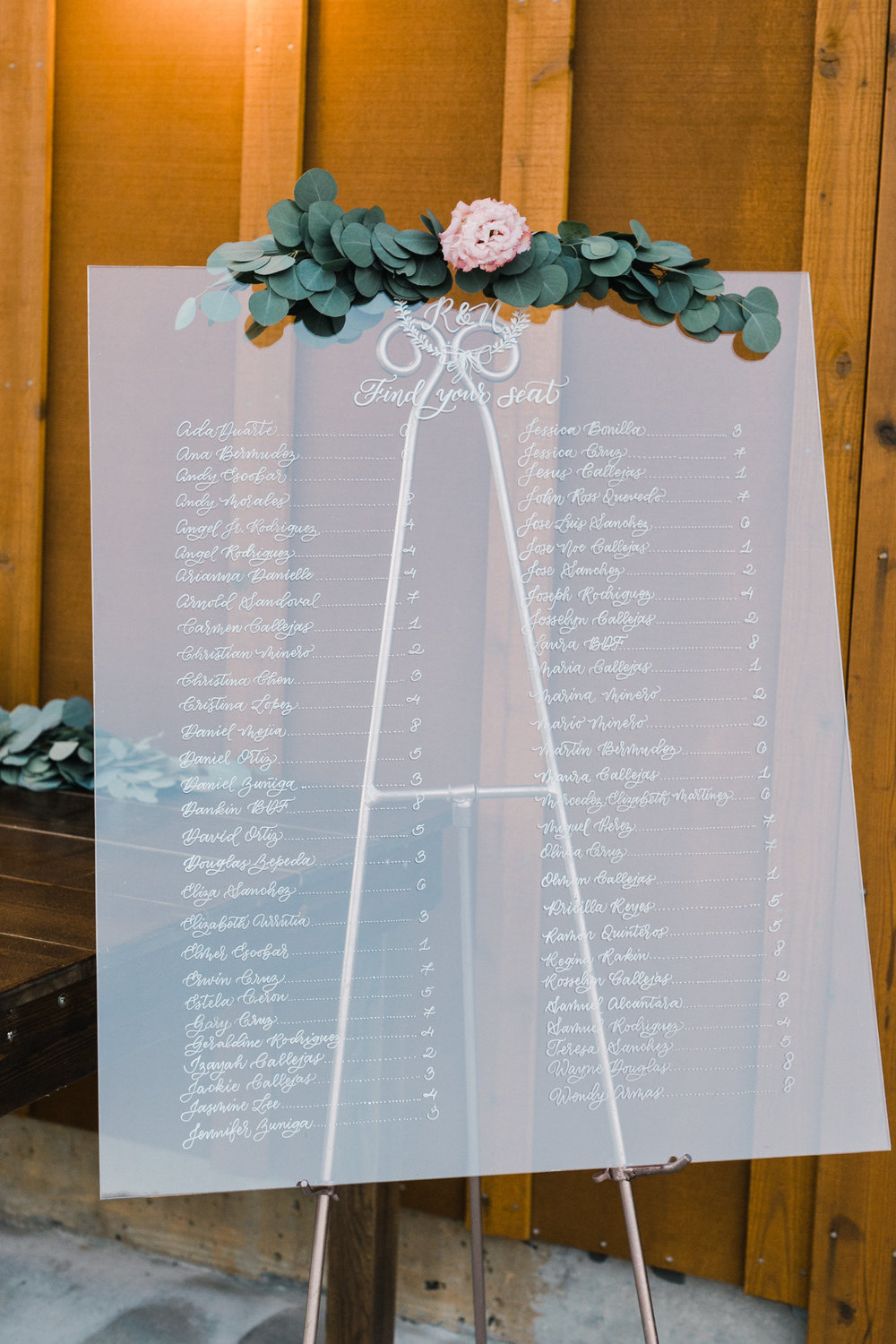 Seating Chart / Escort Card