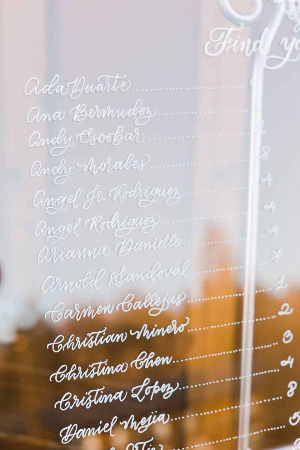 Yosemite wedding table number calligraphy items by paperloveme36.jpg