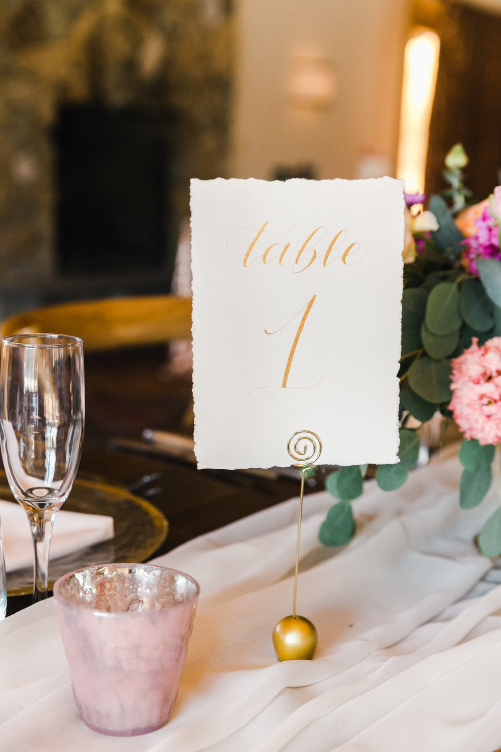 Yosemite wedding table number calligraphy items by paperloveme4.jpg