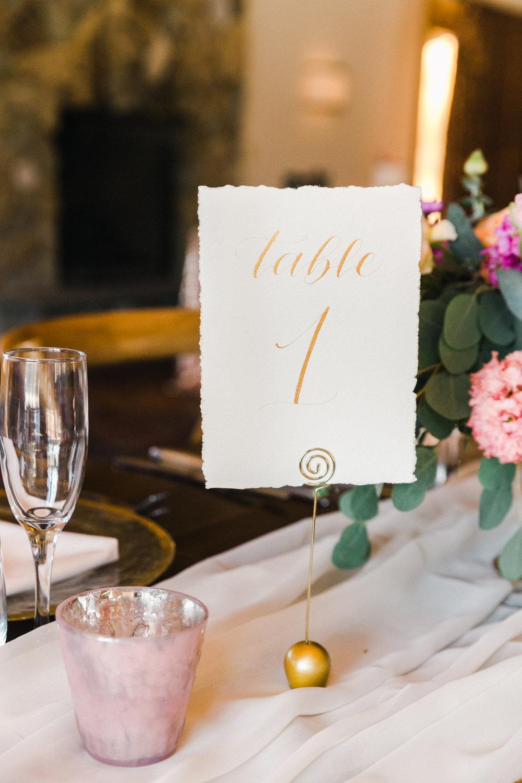 Yosemite wedding table number calligraphy items by paperloveme4.jpg