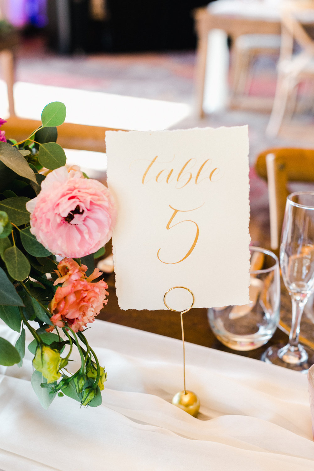 Yosemite wedding table number calligraphy items by paperloveme2.jpg