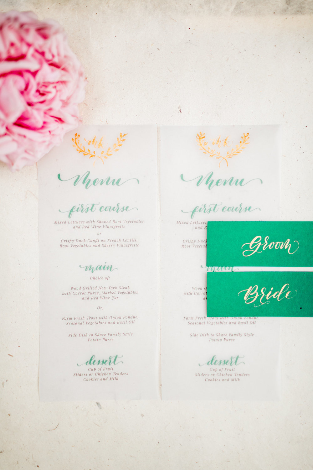 Elopement Announcement Esmerald and Gold Inspired by Paperloveme Calligraphy23.jpg