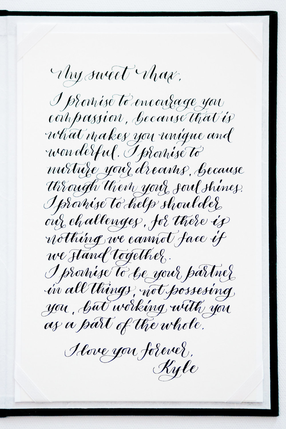 Elopement Announcement Esmerald and Gold Inspired by Paperloveme Calligraphy170.jpg