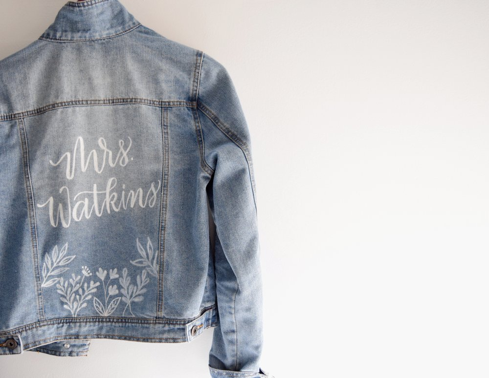 Jean jacket Calligraphy