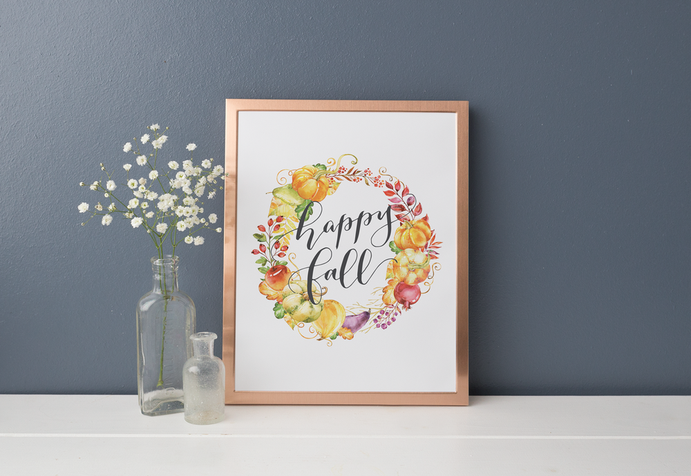 FREE PRINTABLE DOWNLOAD - Happy Fall Printable Decor
