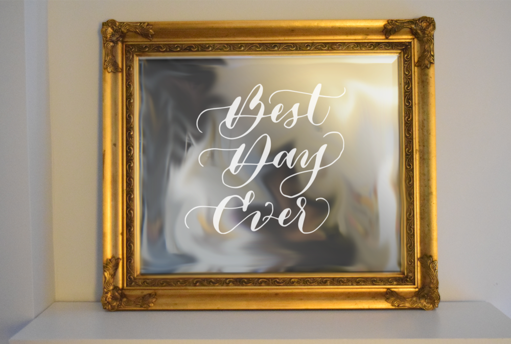 Gold Vintage Mirror | $15  Outside dimension | 30x26 inches  Inside dimensions |  23x20