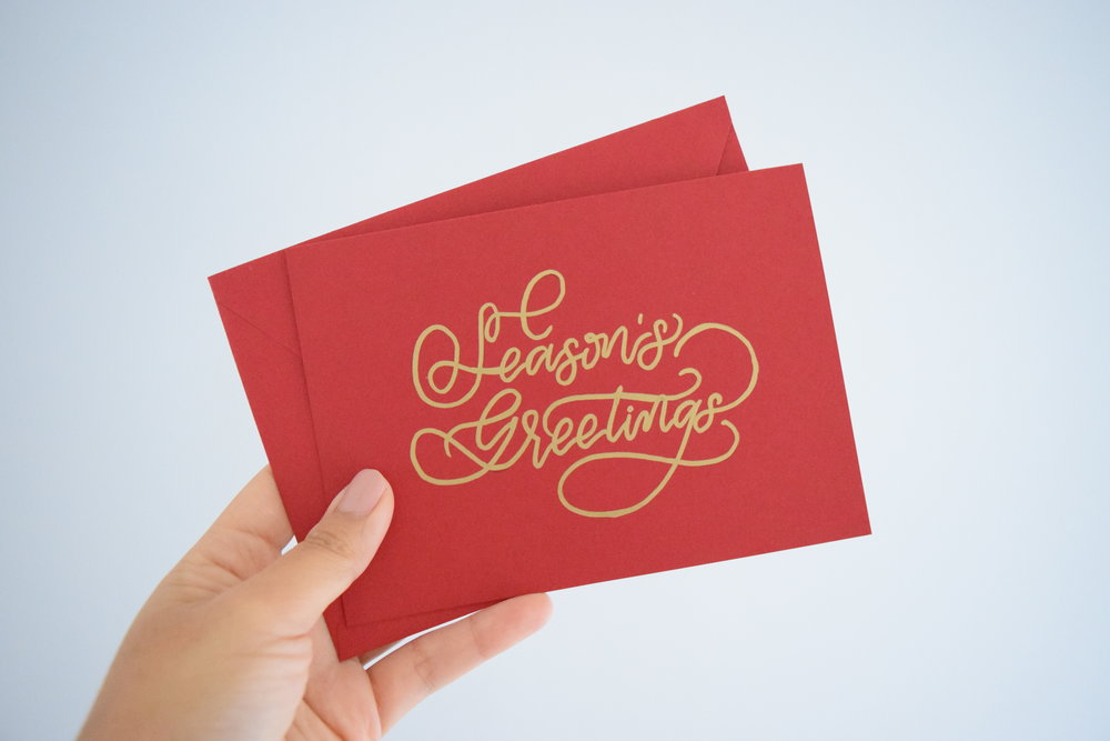 Personalized Handwritten Christmas Cards