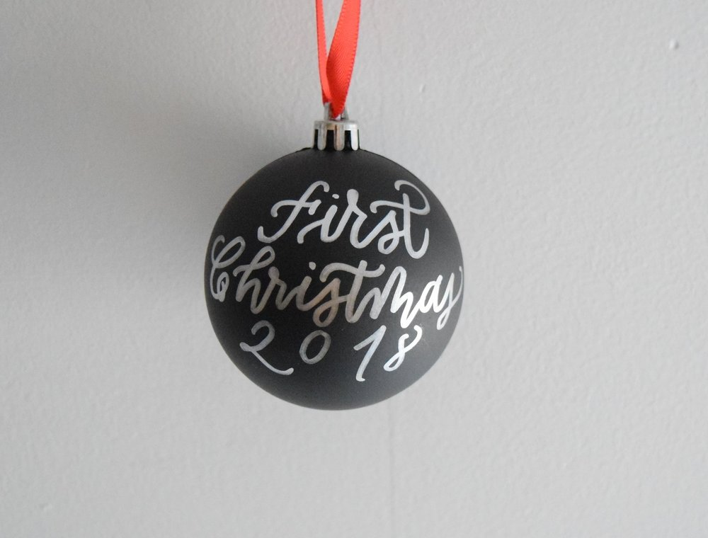 Personalized Chalk Ornament | Farmhouse Christmas
