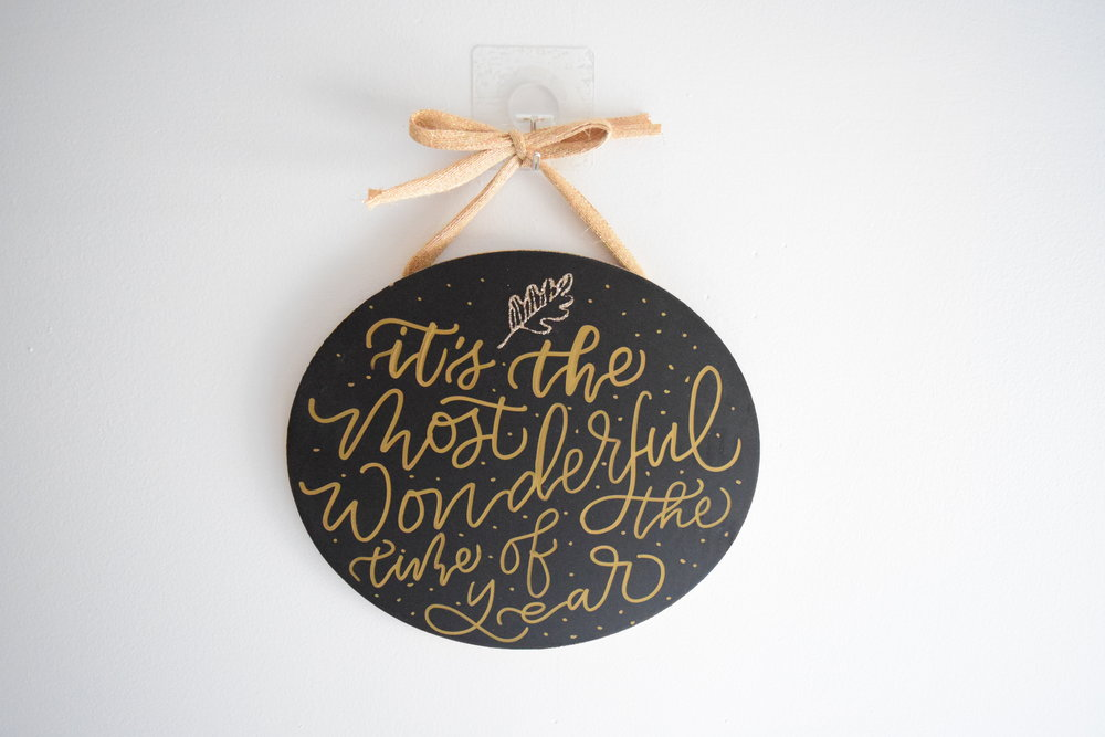 It's The Most Wonderful Time Of The Year Custom Chalkboard | Personalized Sign | Christmas Decor | Christmas Wall Art | Farmhouse Sign