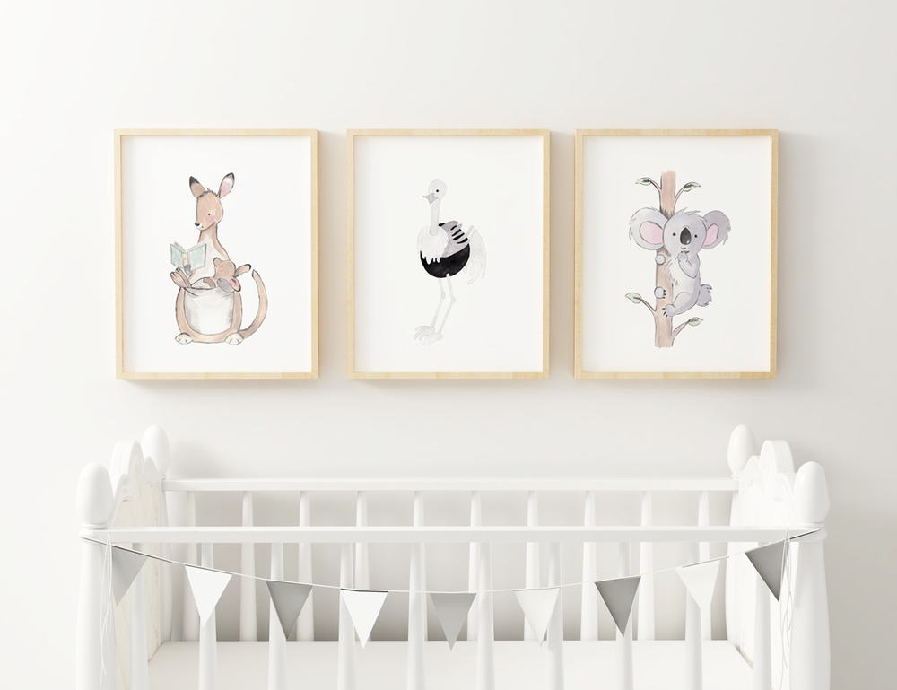 Personalized Cute Baby Animals for Baby Room | Christmas Gift for Baby Room