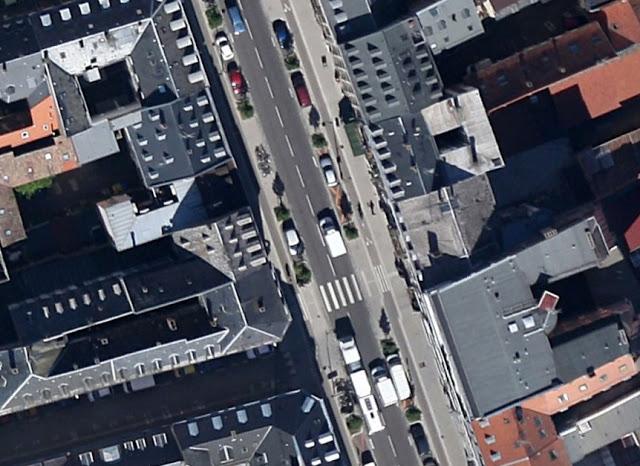 [Image: Aerial view of a portion of Rue du Faubourg de Pierre, Strasbourg]