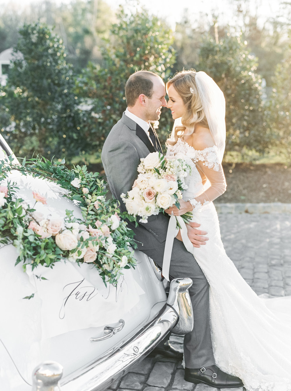 A Romantic Winter Wedding at Park Chateau in New Jersey Featured on Style Me Pretty-- Photography: Lauren Fair // Calligraphy: Caitlin Jane Calligraphy // Stationery: Papertree Studio // Wedding Planner: Shannon Wellington // Florist:  Fresh Designs Florist
