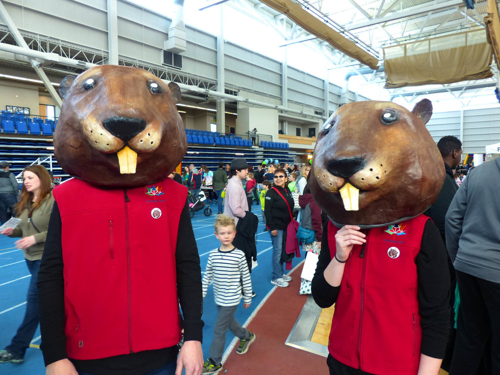 Our Canada 150 beavers made lots of friends at the 5th Annual Family Day Festival at TCC