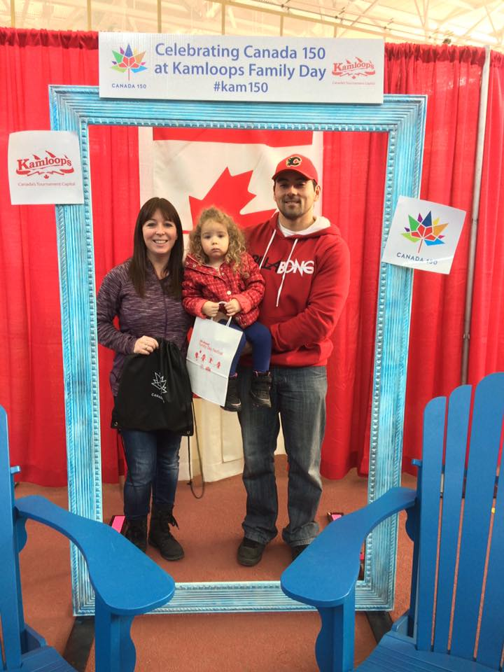 We were so happy to give a #Canada150 bag to the Sampson family. They were the 150th to walk through the doors at the Tournament Capital for the Family Day Festival on February 13. They received some great Canada 150 swag.