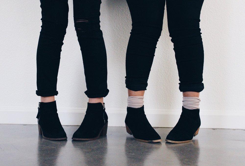 Black Suede Ankel Boots