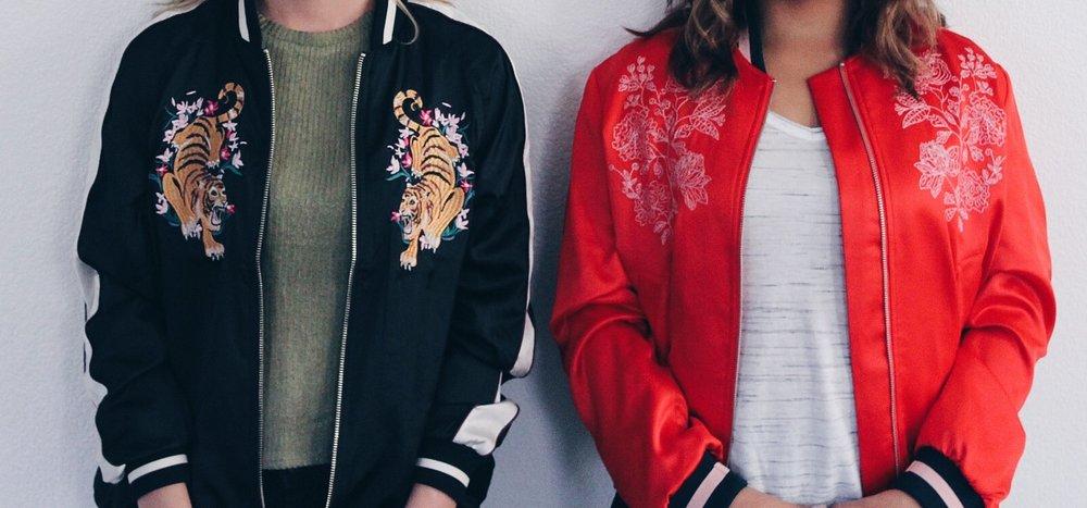 Women's Silk Bomber Jacket