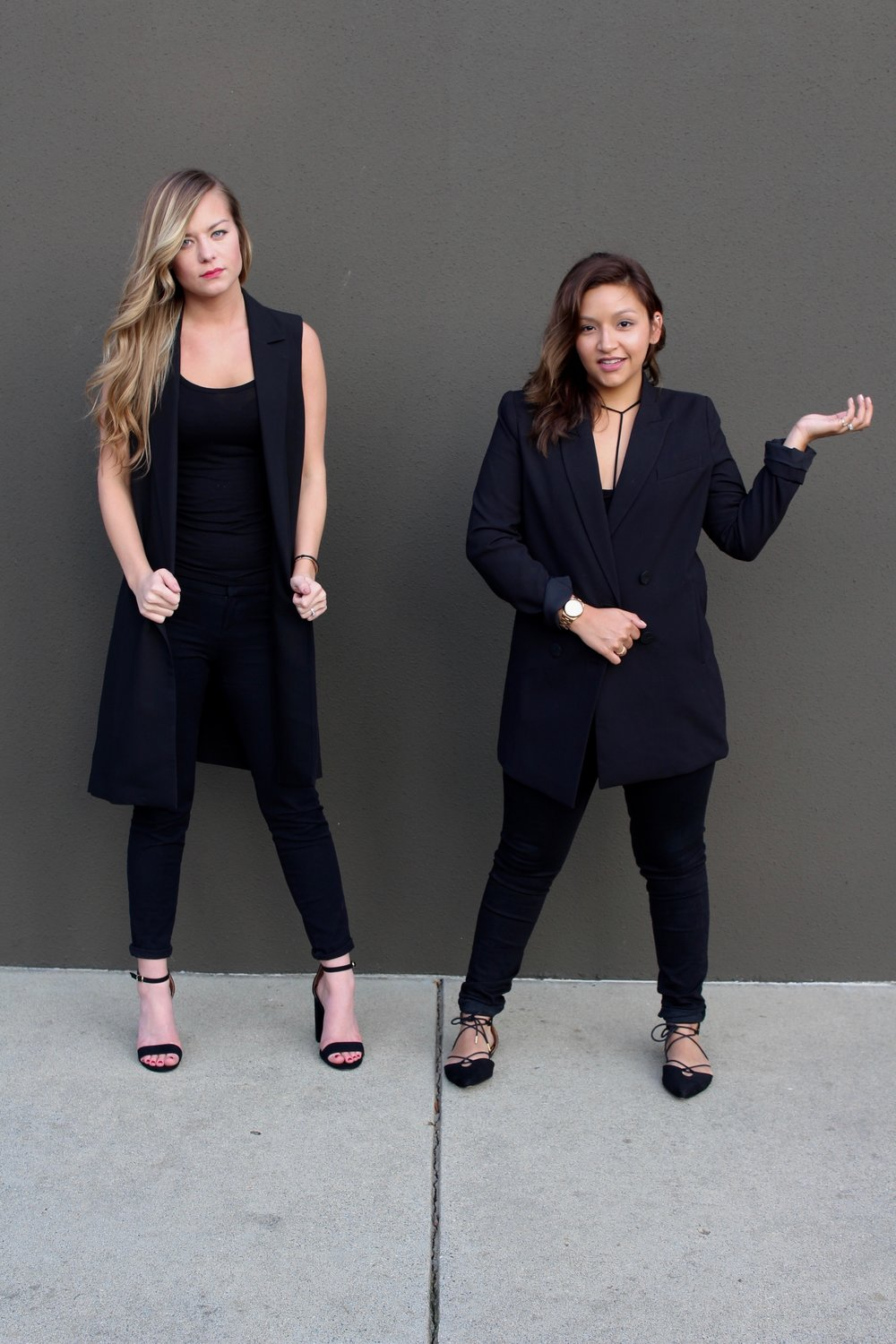 Women's Fall Fashion inspired by menswear. Tailored blazers and fitted slacks