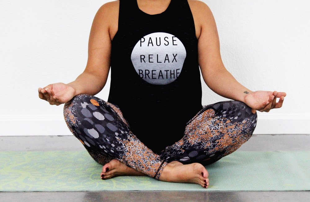 Pause, Relax, and Breathe are the key essentials for yoga 101